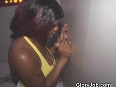 Slutty Black Amateur Fucked On tap Mature Bookstore Glory Hole