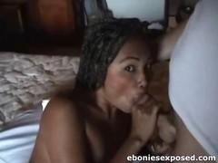 Amateur Ebony GF Sucks Shlong