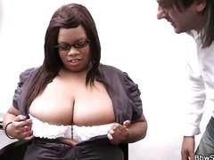 Black BBW slut bonks boss
