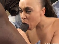 Marvelous swarthy gal Mone Divine needs a black cock banging her peach
