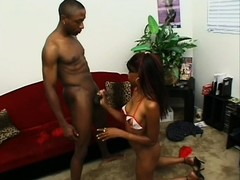 This dirty felonious babe craves some huge man meat all day long