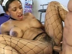 Ayana Angel gets a piece of flesh wood shoved deep in her snatch