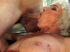 Norma with biggest knockers is in sexual ecstasy with hard cocked guy